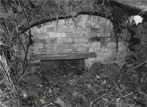 Remains of the auxillary unit hide-out (since collapsed) at Kemp Hill Farm on the outskirts of Ryde in 1989. Picture copyright Ben Houfton/Adrian Searle.