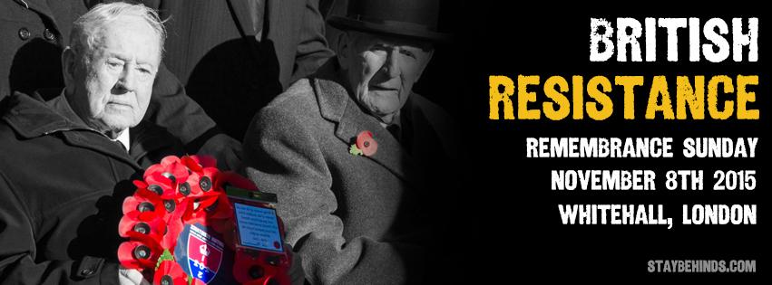 British Resistance March Banner 2015